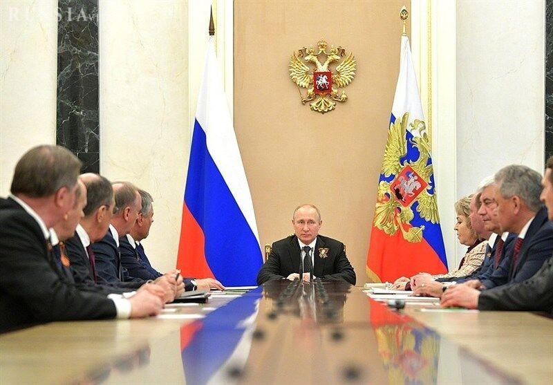 جلسه شورای امنیت روسیه به ریاست ولادیمیر پوتین